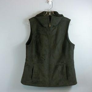 Talbots faux suede Vest size Large